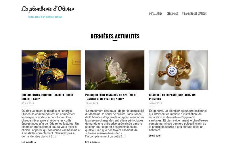 La plomberie d'Olivier - Faites appel à un plombier sérieux