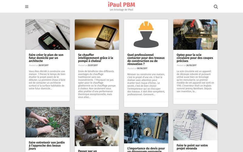 iPaul PBM - Les bricolage de iPaul